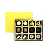 12PC PRALINE GOLD COLLECTION WITH RIBBON