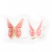 Butterfly White Pink 77504
