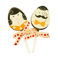 2PC WEDDING LOLLI SET - MR & MRS