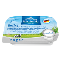 8G unsalted butter portions 82% fat