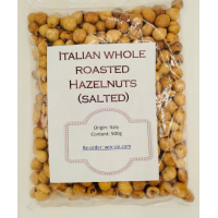 NUTS: ITALIAN WHOLE ROASTED HAZELNUTS SALTED